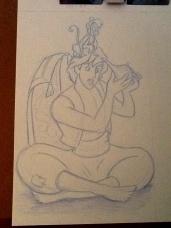 Aladdin Sketch by Natalie Lein, October 2012