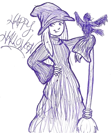 """Wicked! - Sketch"" by Natalie Grace, October 2012"