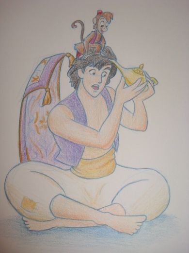 """Daily Disney Commish - Aladdin"" by Natalie Grace, November 2012"