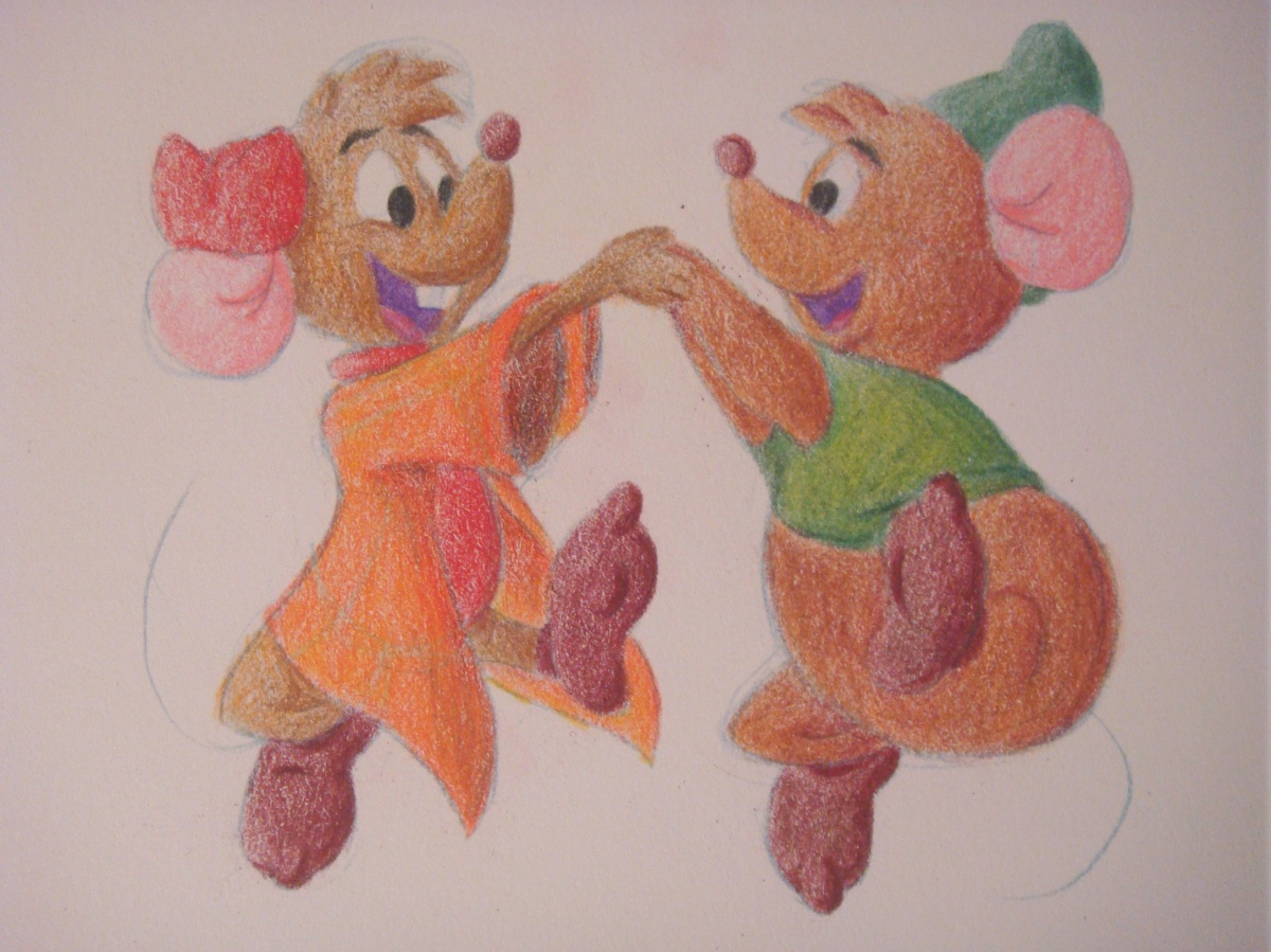 """Daily Disney Commish - Jaq & Gus"" by Natalie Grace, November 2012"