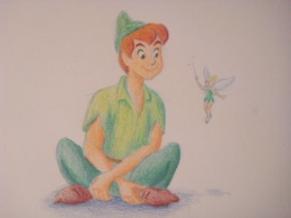 """Daily Disney Commish - Peter & Tink"" by Natalie Grace, November 2012"