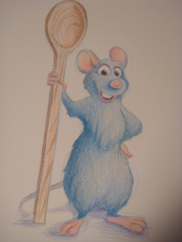 """Daily Disney Commish - Remy"" by Natalie Grace, November 2012"