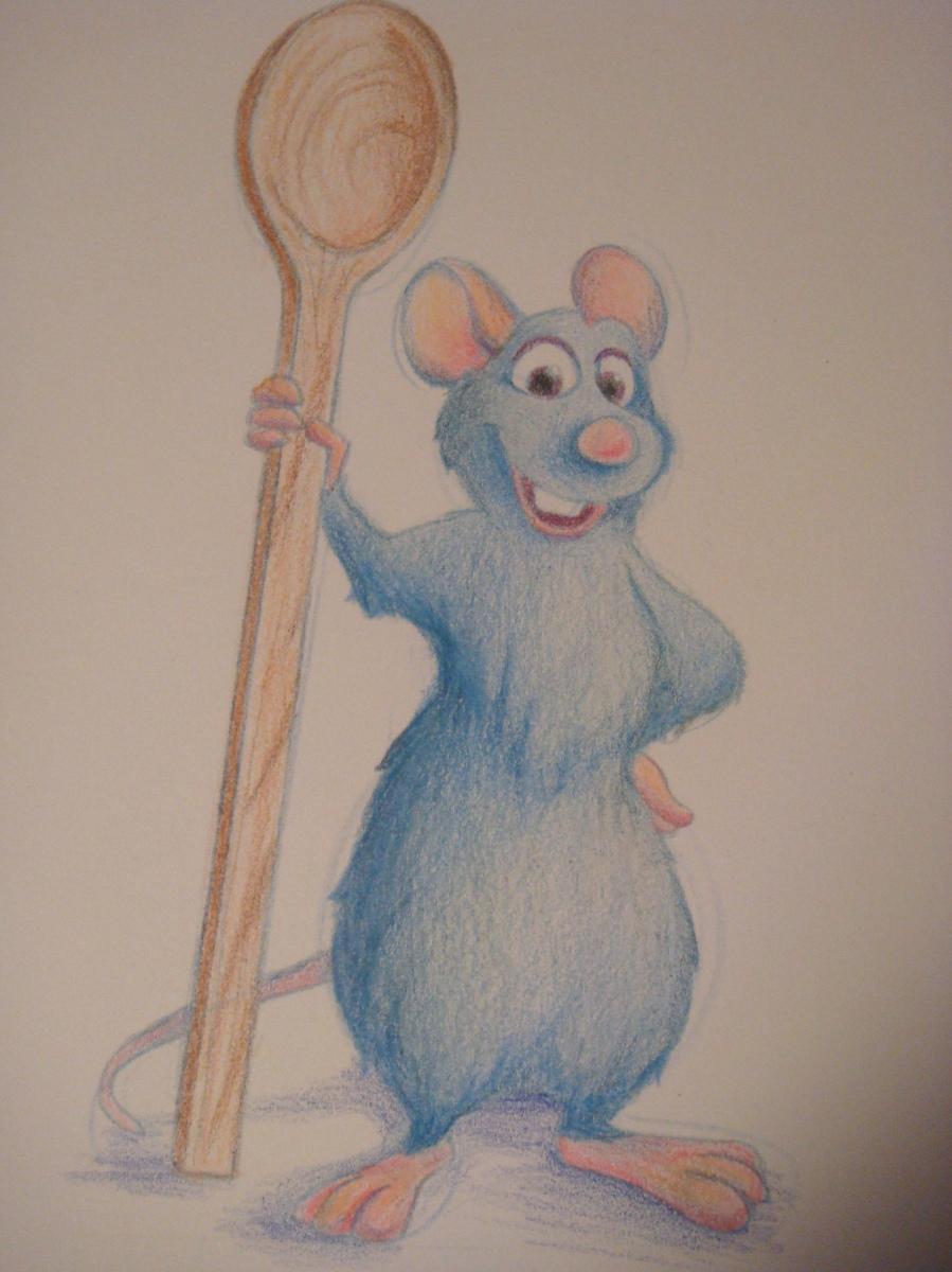 """Daily Disney Commish - Remy"" by Natalie Grace, November 2012"