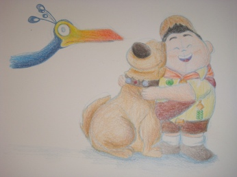 """Daily Disney Commish - Russell & Dug"" by Natalie Grace, November 2012"