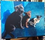 """""""Tres Perros"""" (Acrylic)"""
