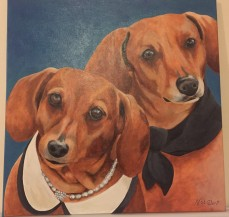 """""""Lilly and Sadie"""" (Acrylic)"""