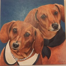 """Lilly and Sadie"" (Acrylic)"